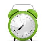 Green Alarm Clock Illustration Stock Photography