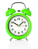 Green alarm clock Stock Photography