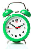 Green alarm clock Royalty Free Stock Photos