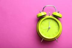 Green alarm clock Royalty Free Stock Image
