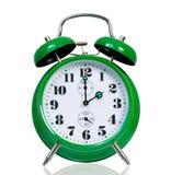 Green alarm clock Royalty Free Stock Photos