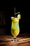 Green alcoholic cocktail Royalty Free Stock Photography