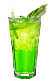 Green Alcoholic Cocktail Stock Photography