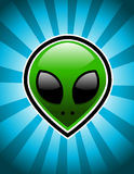 Green Alien Royalty Free Stock Image