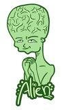 Green alien Stock Photography