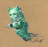 Green alien Stock Image