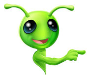 Green Alien Pointing Stock Images