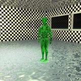 Green alien Royalty Free Stock Photo