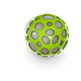 Green alien techno object ball Royalty Free Stock Image