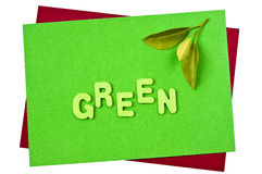 Green. For all sorts of green issues Royalty Free Stock Photo