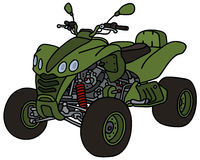 Green all terrain vehicle Stock Photos