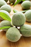 Green almonds Royalty Free Stock Images