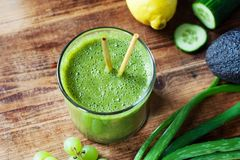 Green Aloe Smoothie Stock Photography