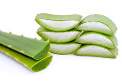 Green Aloe Vera slices Royalty Free Stock Photography
