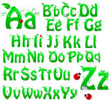 Green alphabet Royalty Free Stock Image