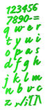 Green alphabet Royalty Free Stock Photos