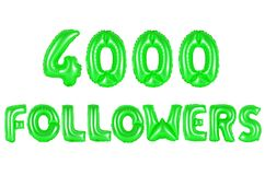 Four thousand followers, green color Stock Image