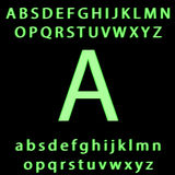 Green alphabet blurred. Raster Royalty Free Stock Photography