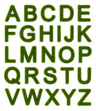 Green alphabet - capital letters Stock Photo