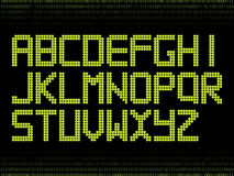 Green alphabet with dots Royalty Free Stock Photography