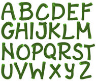 Green alphabet Royalty Free Stock Photography