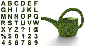 Green alphabet with a structure of leaves Stock Image
