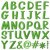 Green alphabet Stock Image