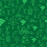 Green alternative energy pattern Stock Image
