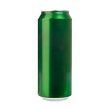 Green aluminum can Stock Image