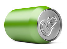 Green Aluminum Can Stock Photography