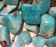 green amazonite mineral collection royalty free stock images