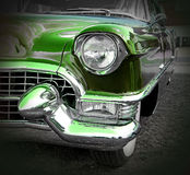 Green american cadillac Royalty Free Stock Photography