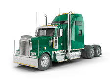 Green american truck Royalty Free Stock Image