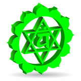 Green Anahata chakra Stock Photos