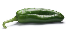 Green Anaheim chile, paths Royalty Free Stock Photography