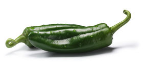 Green Anaheim chilies, paths Stock Image