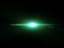 Green anamorphic light special effect against a dark background ilustration Stock Image