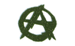 Green Anarchy Sign Series Symbols out of realistic Grass Stock Photo