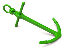 Green anchor Royalty Free Stock Photography