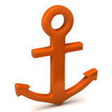 Green anchor Royalty Free Stock Images