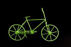 Green Ancient  Bicycle Royalty Free Stock Photography