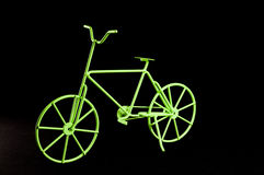 Green Ancient  Bicycle Royalty Free Stock Images