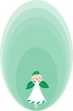 Green angel Royalty Free Stock Image