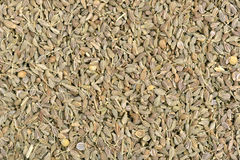 Green anis seeds on background Royalty Free Stock Photography