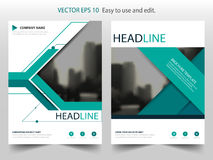 Green annual report brochure flyer design template vector, Leaflet cover presentation abstract flat background, layout in A4. Size vector illustration