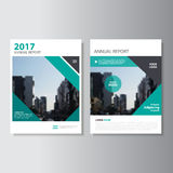 Green annual report Leaflet Brochure Flyer template design, book cover layout design, Abstract blue presentation templates Royalty Free Stock Image