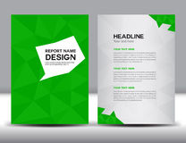 Green Annual report Vector illustration Stock Photos