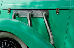 Green antique automobile. Royalty Free Stock Image