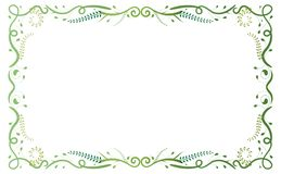 Green Antique Floral Frame. Green classical antique floral frame on white backgroung. To be used for holidays, celebrations or happy events Royalty Free Stock Image