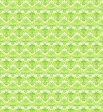 Green antique lily. Seamless green pattern with retro lily Stock Photography